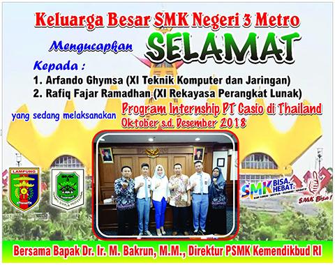 2 SISWA SMK NEGERI 3 METRO IKUTI PROGRAM MAGANG/PRAKTEK KERJA INDUSTRI PRAKERIN DI THAILAND